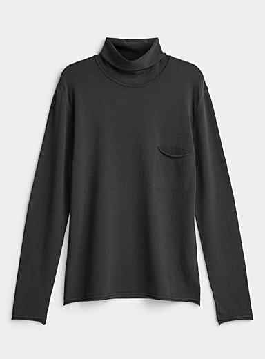 Sarah Pacini MAN Grey Mock neck sweater for men