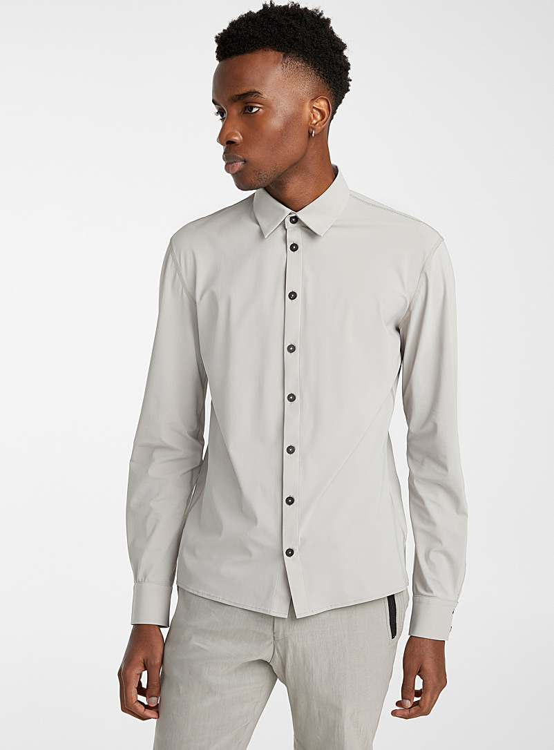 Sarah Pacini MAN Light Grey Techno jersey shirt for men