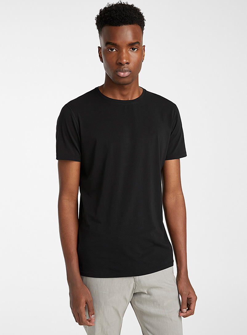 Sarah Pacini MAN Black Sheer T-shirt for men