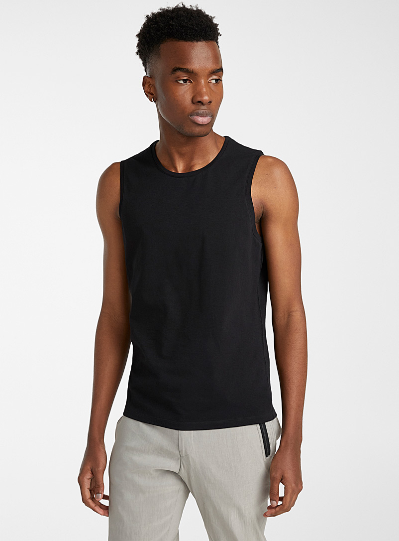 Sarah Pacini MAN Black Muscle tank for men