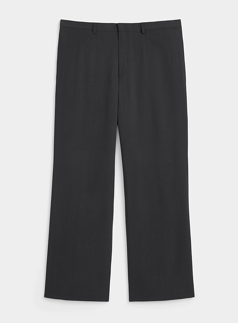Philippe Dubuc Grey Charcoal flowy pant for men