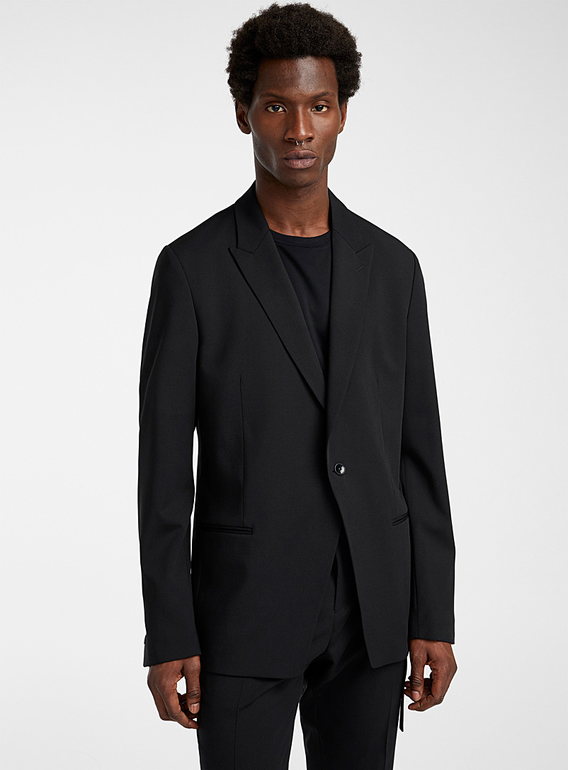 Philippe Dubuc Black Notched lapel jacket for men