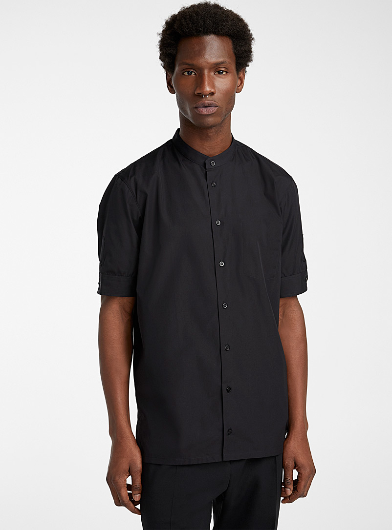 Philippe Dubuc Black Short-sleeve shirt for men