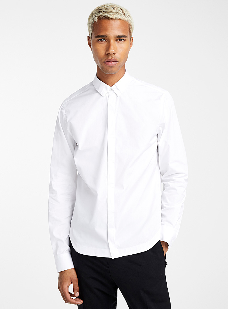 Unique-collar shirt - Philippe Dubuc - White