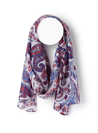 Colourful paisley scarf