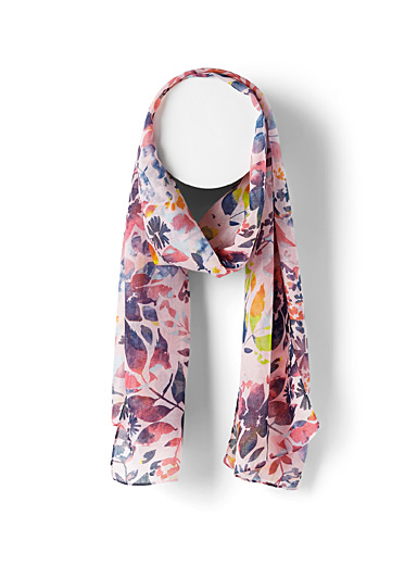 Painterly foliage scarf