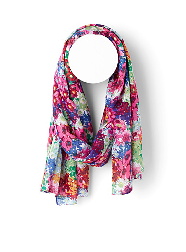 Colourful spring scarf