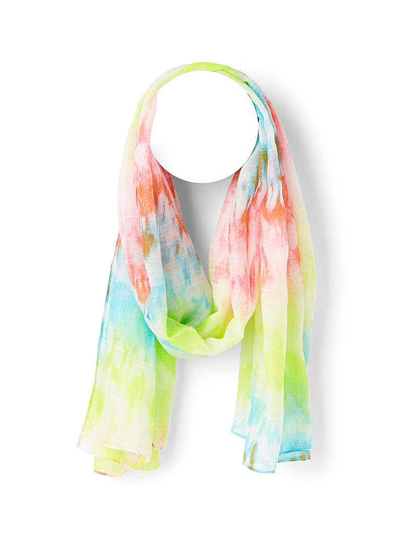 Simons Assorted  Sheer tie-dye scarf for women