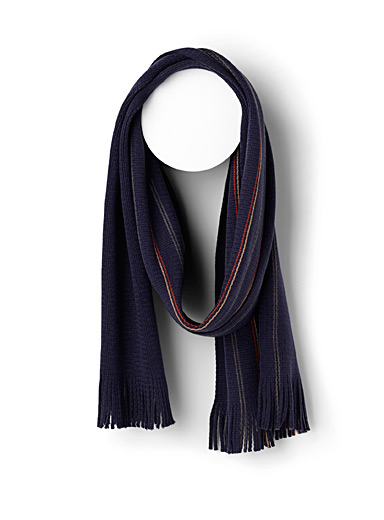 Thin stripe reversible scarf