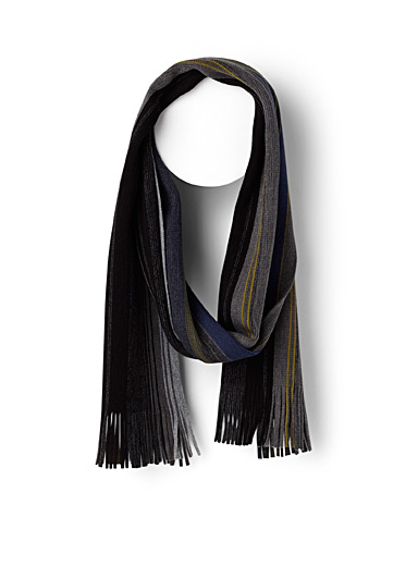 Mixed block stripe scarf