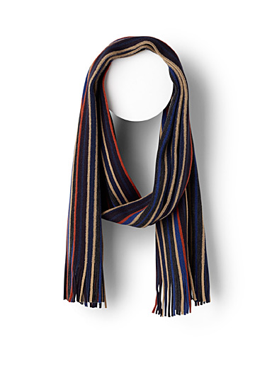 Alternating vivid stripe scarf