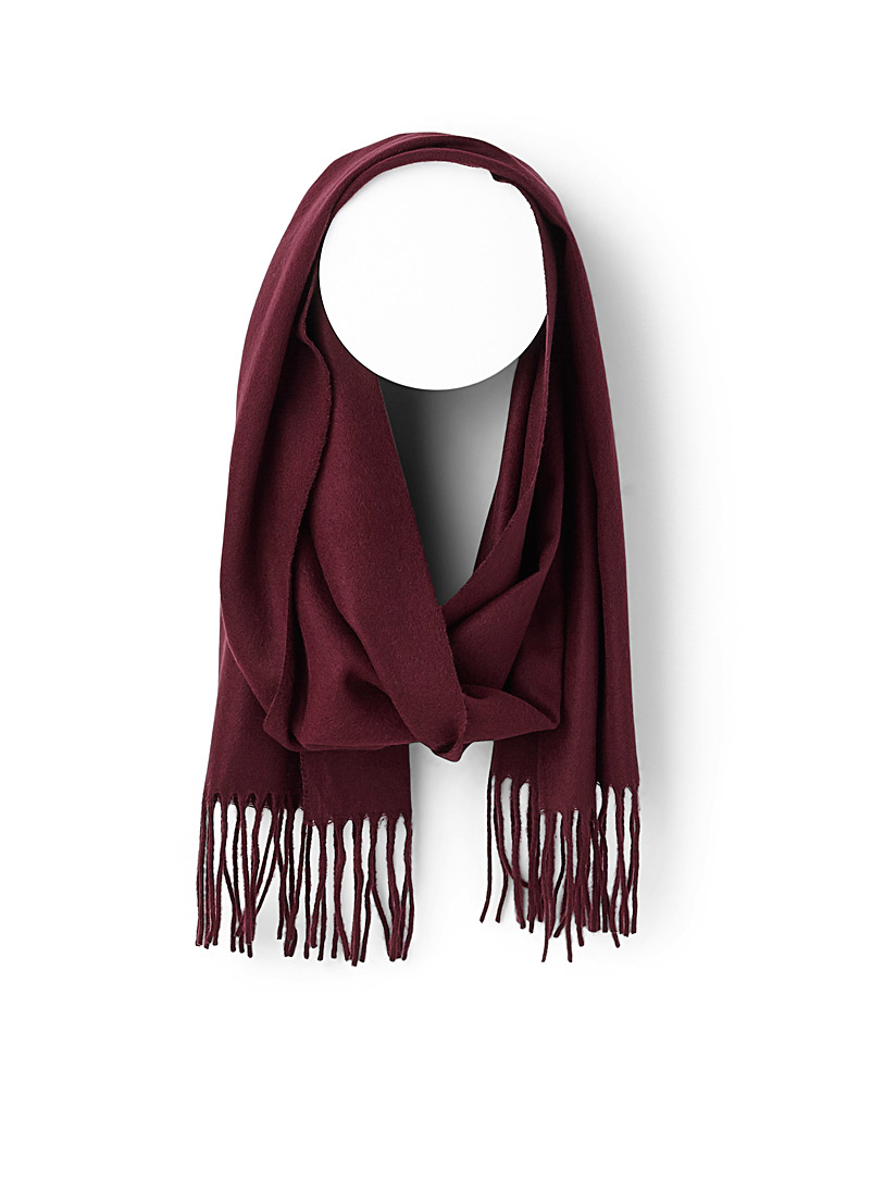 Monochrome fringed scarf - Outdoor scarves - Ruby Red
