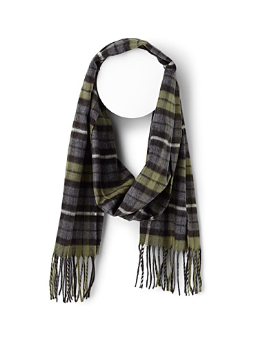Royal check scarf