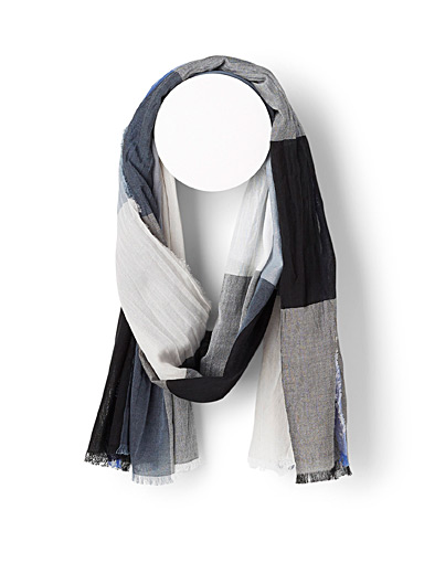 Le foulard carreaux chambray