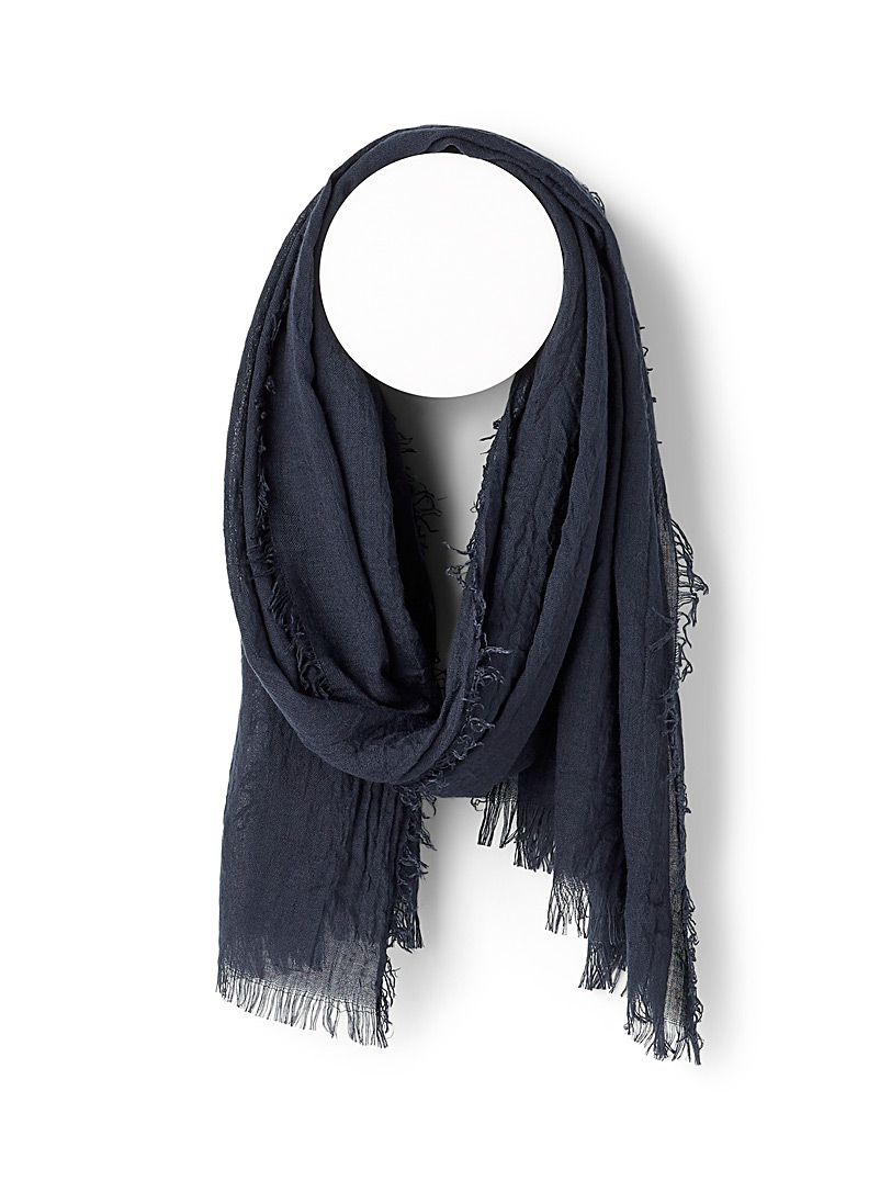 Le 31 Black Light knit scarf for men