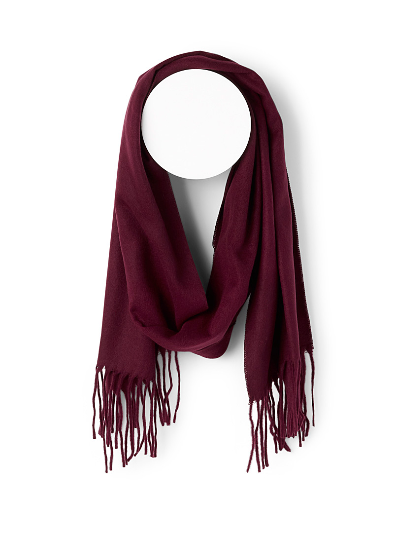 Le 31 Ruby Red Cashmere touch scarf for men