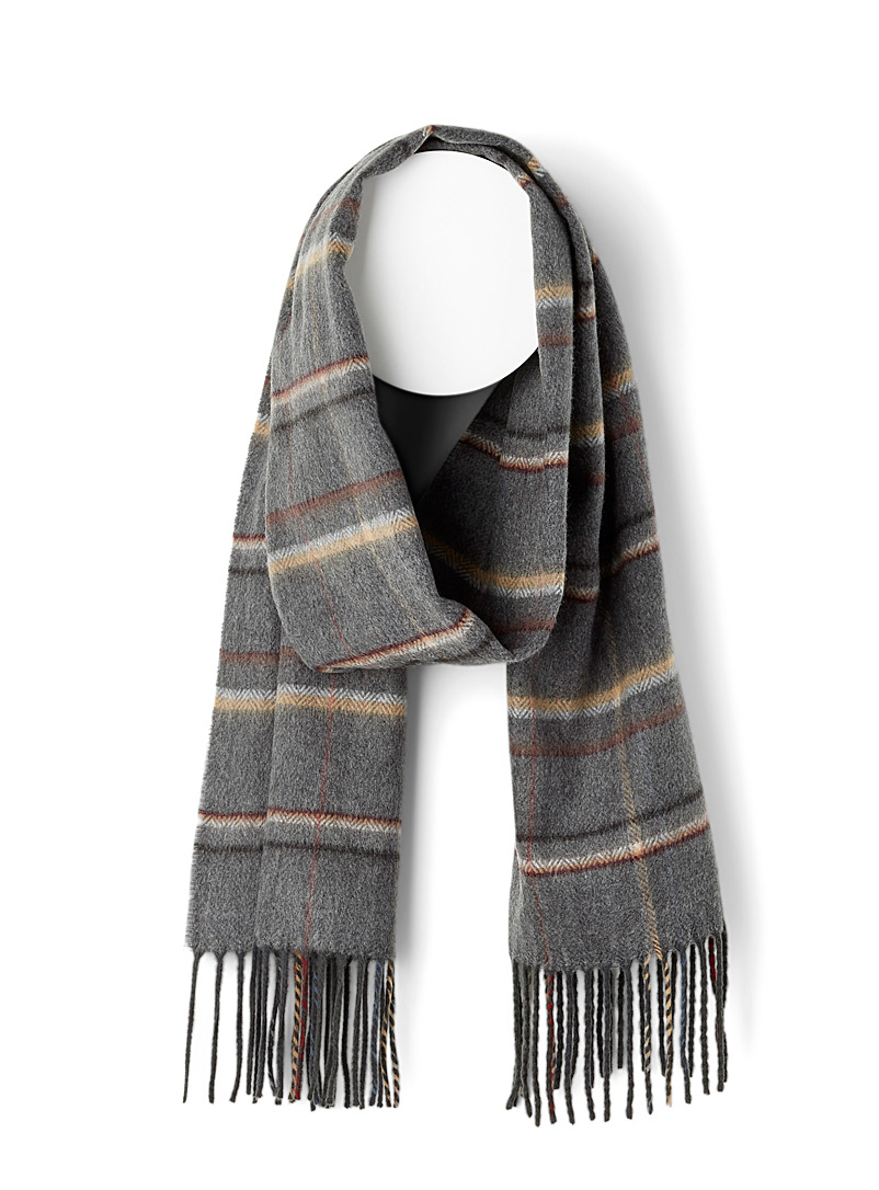 Dark check scarf