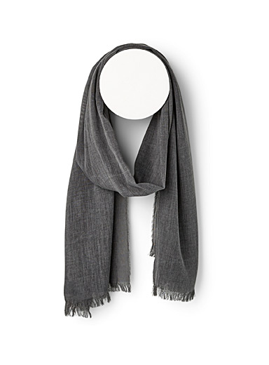 Heather grey lightweight scarf