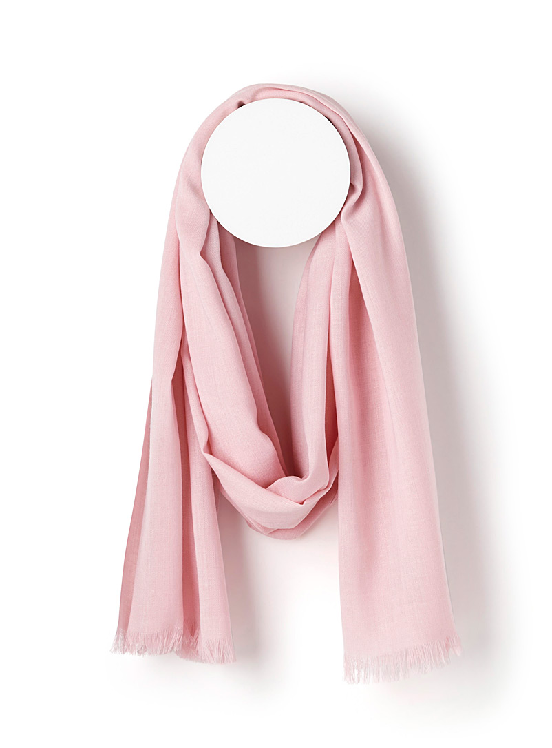 Simons Pink Monochrome weave scarf for women