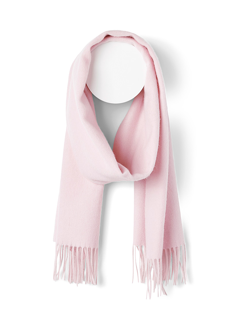Simons Pink Velvety wool and cashmere scarf for women