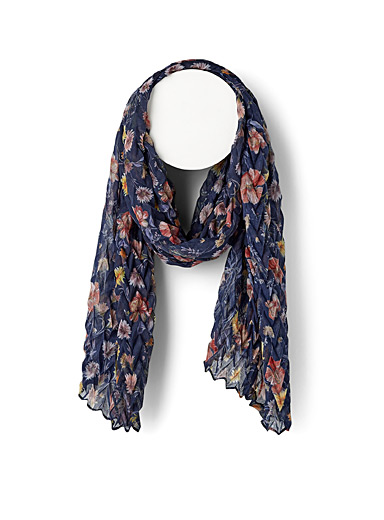 Spring flower herringbone volume scarf
