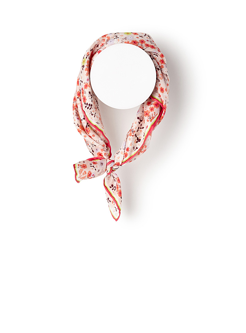 Mini flower scarf - Light scarves - Patterned Red