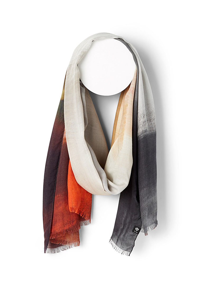 Painterly wash scarf