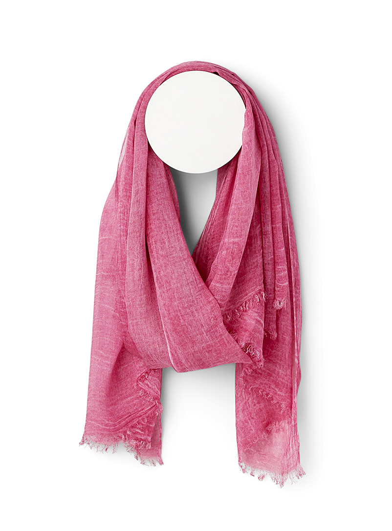 Fraas Dusky Pink Subtle fading scarf for women