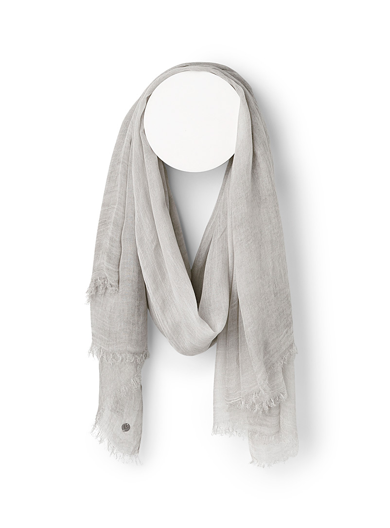 Fraas Light grey Subtle fading scarf for women