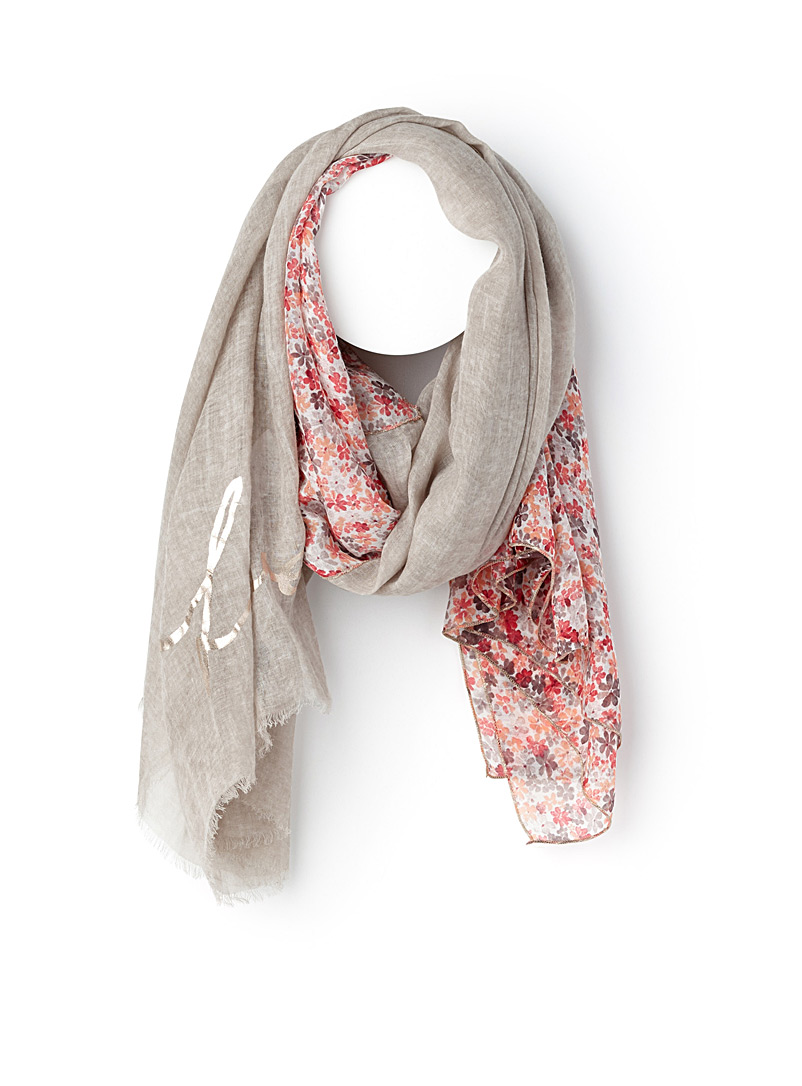 Delicate flower scarf - Light scarves - Patterned Red