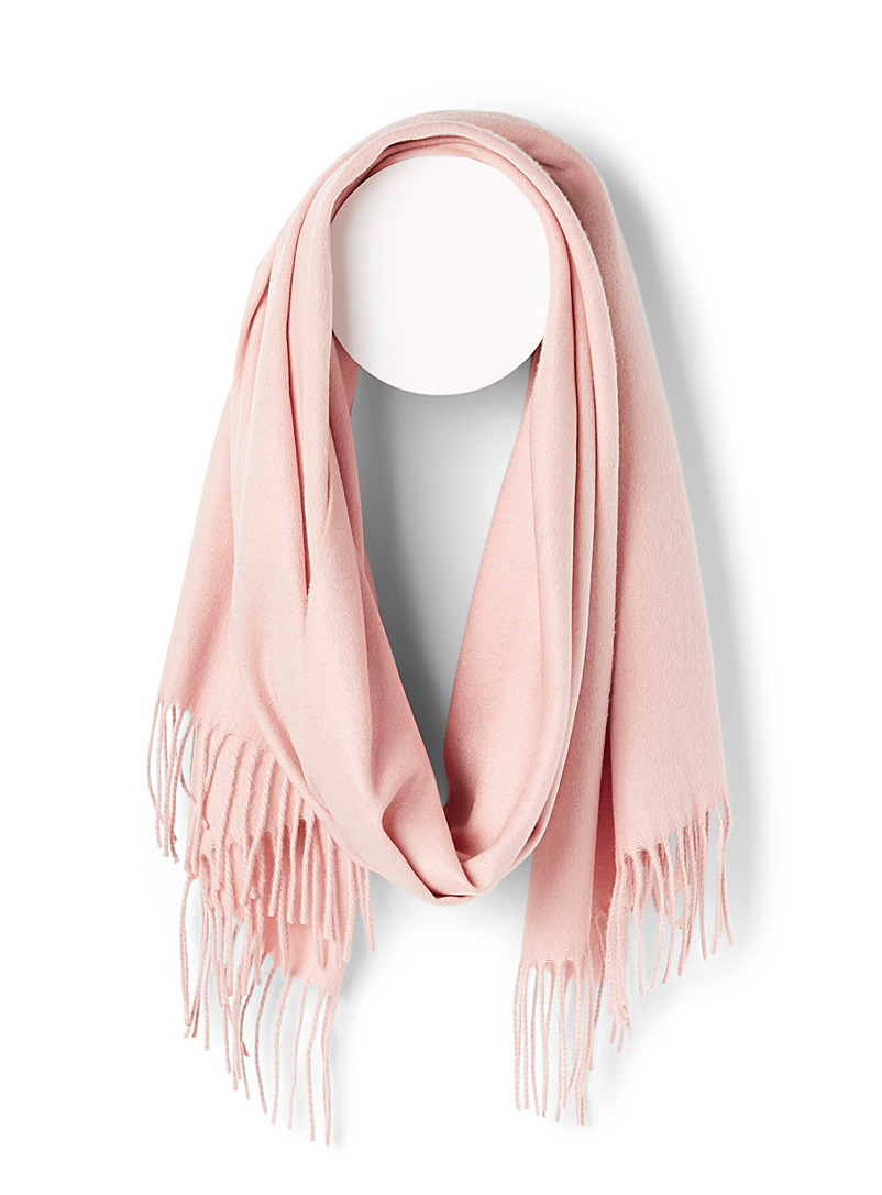 Fraas Pink Essential solid scarf for women