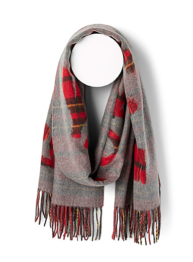 Fraas Assorted red Royal tartan scarf for women