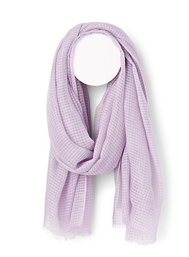 Fraas Purple Honeycomb scarf for women