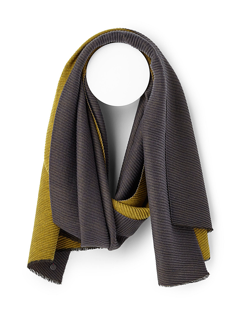 Two-tone waffle scarf - Winter Scarves