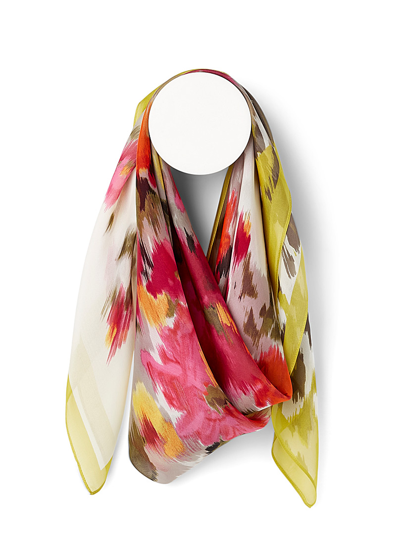 Fraas Assorted Floral mirage silk scarf for women