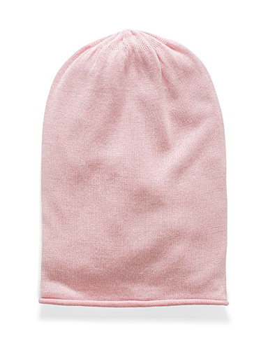 Simons Pink Ultra fine loose tuque for women