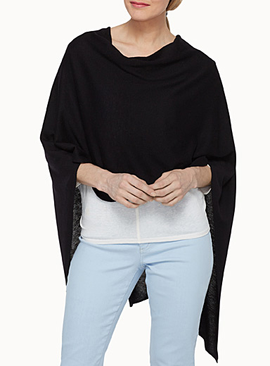 Jersey cocoon poncho