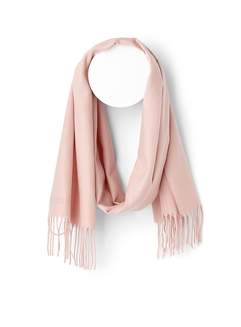 Monochrome fringed scarf - Winter Scarves - Pink