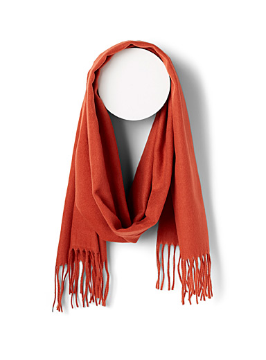 Simons Coral Essential velvety scarf for women