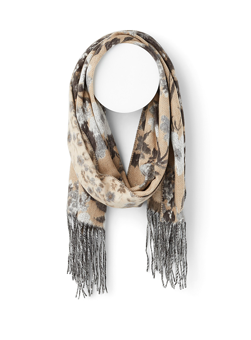 Simons Assorted brown Saturated floral scarf for women