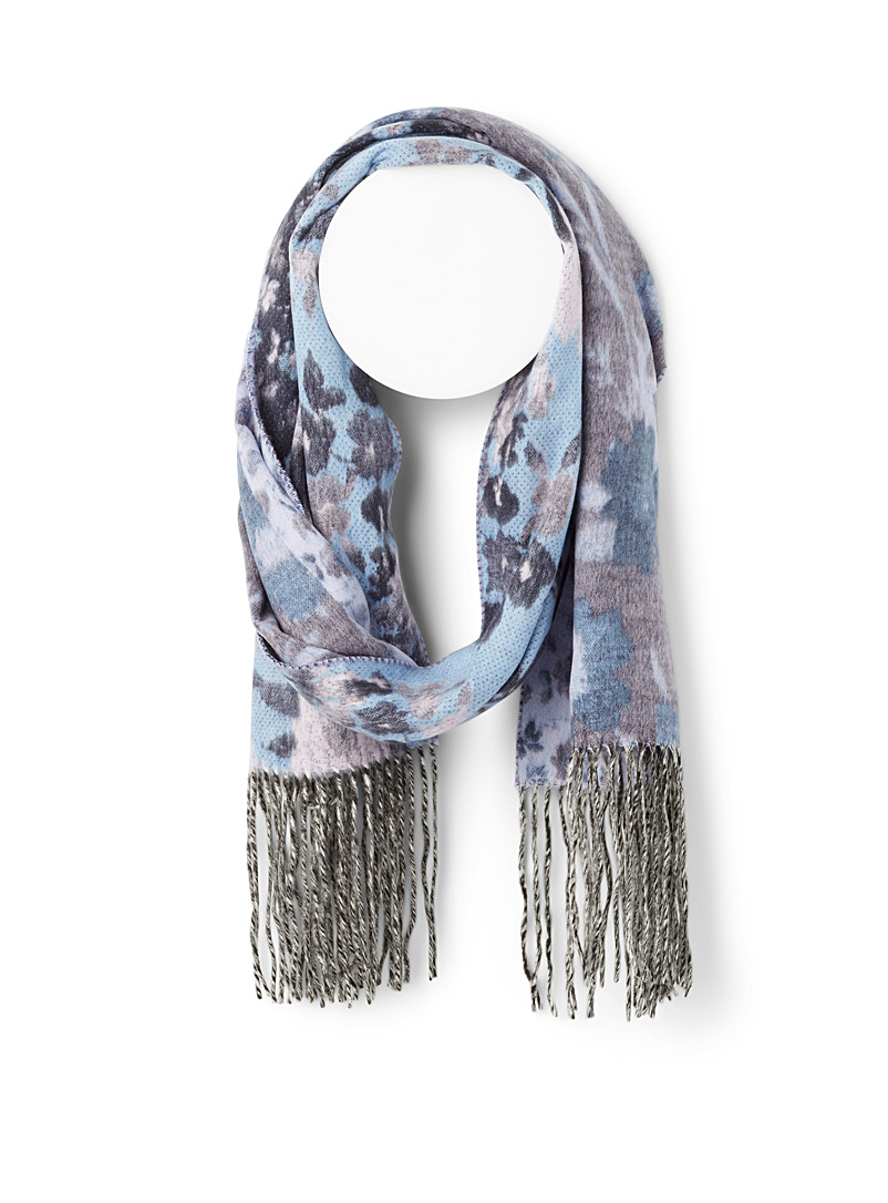 Saturated floral scarf