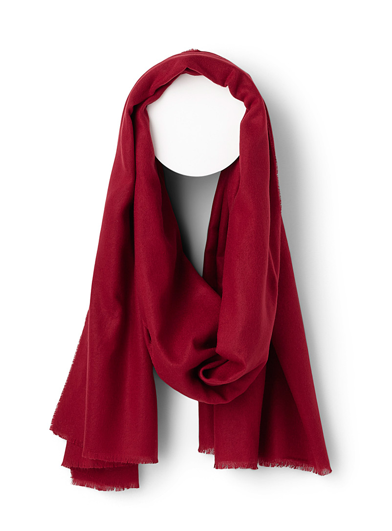 Soft solid scarf - Winter Scarves - Red