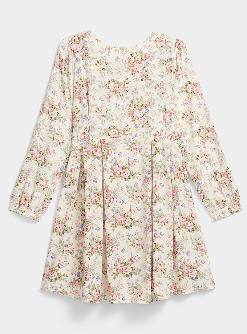 Twik Patterned White Field of roses dress for women