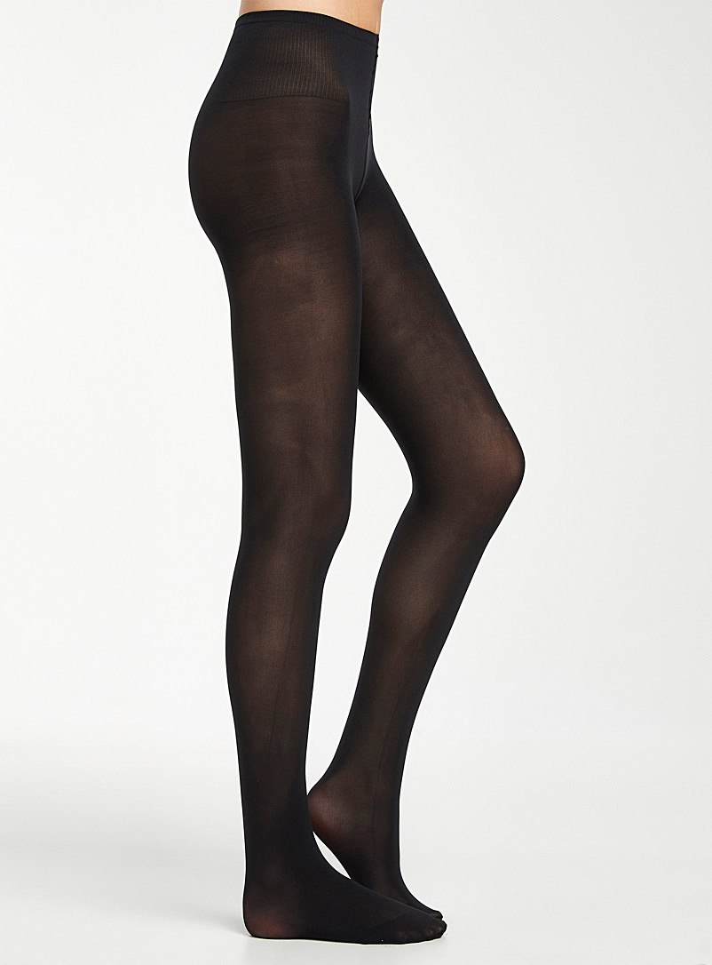 Swedish stockings Black Olivia tights for women