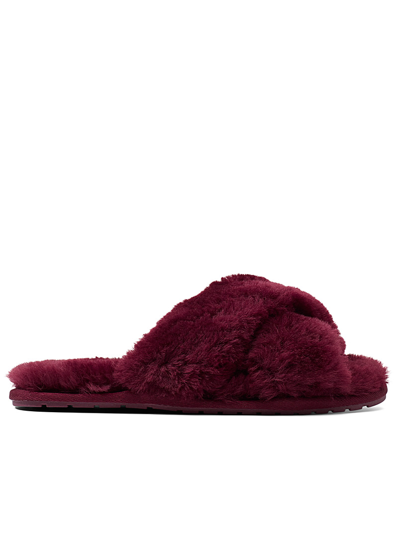 EMU Ruby Red Mayberry slides for women