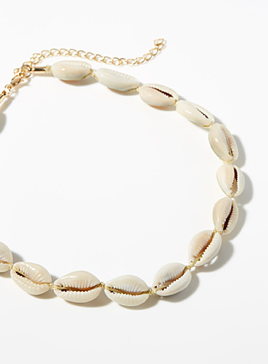 Simons White Seashell necklace for women