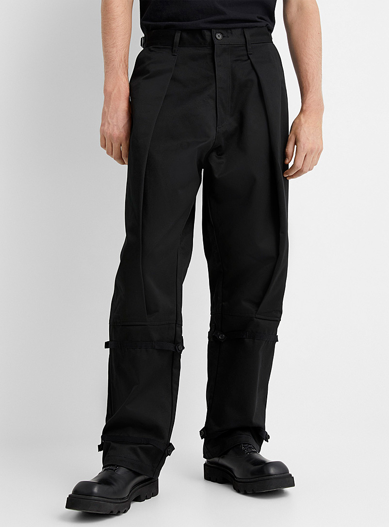 Undercover Black Zip and strap black pant for men