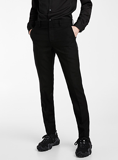 Undercover Black Mixed media pant for men