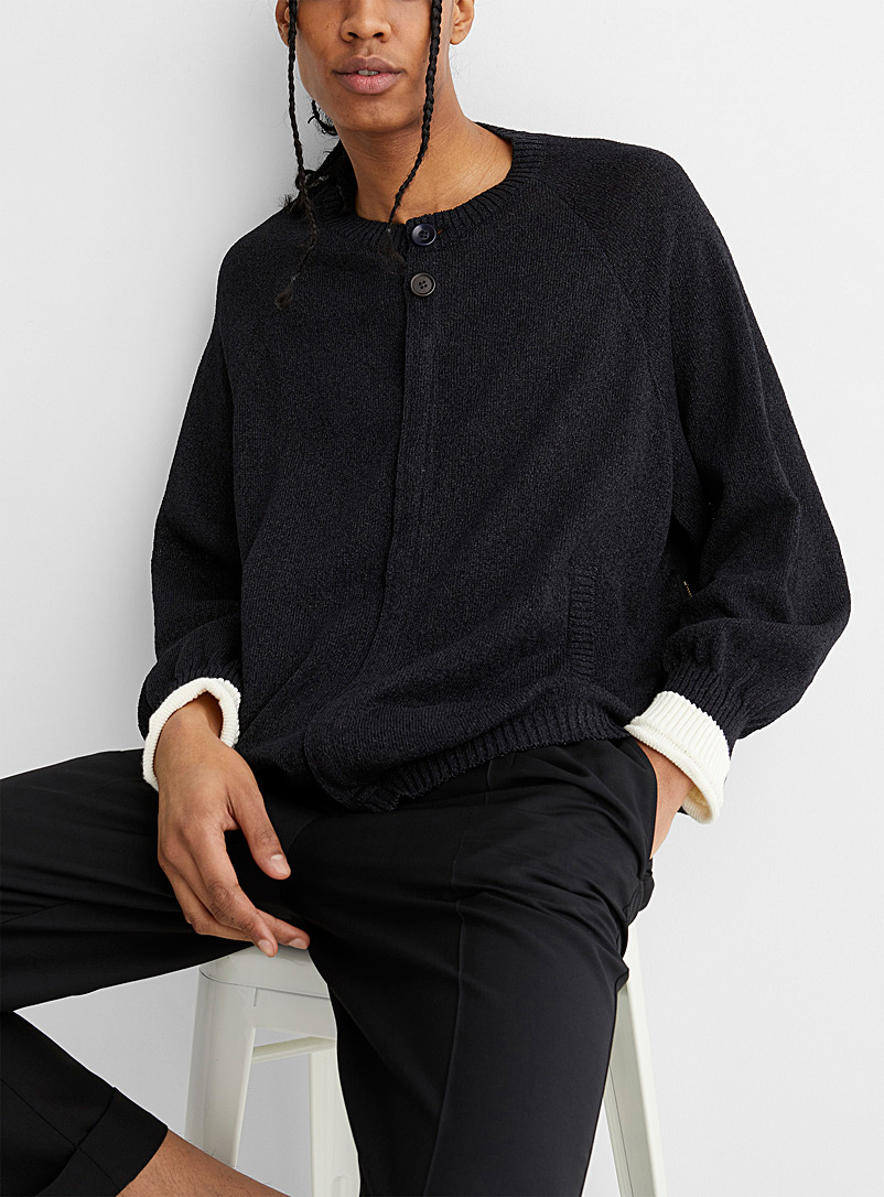 Undercover Black Accent cuff cardigan for men