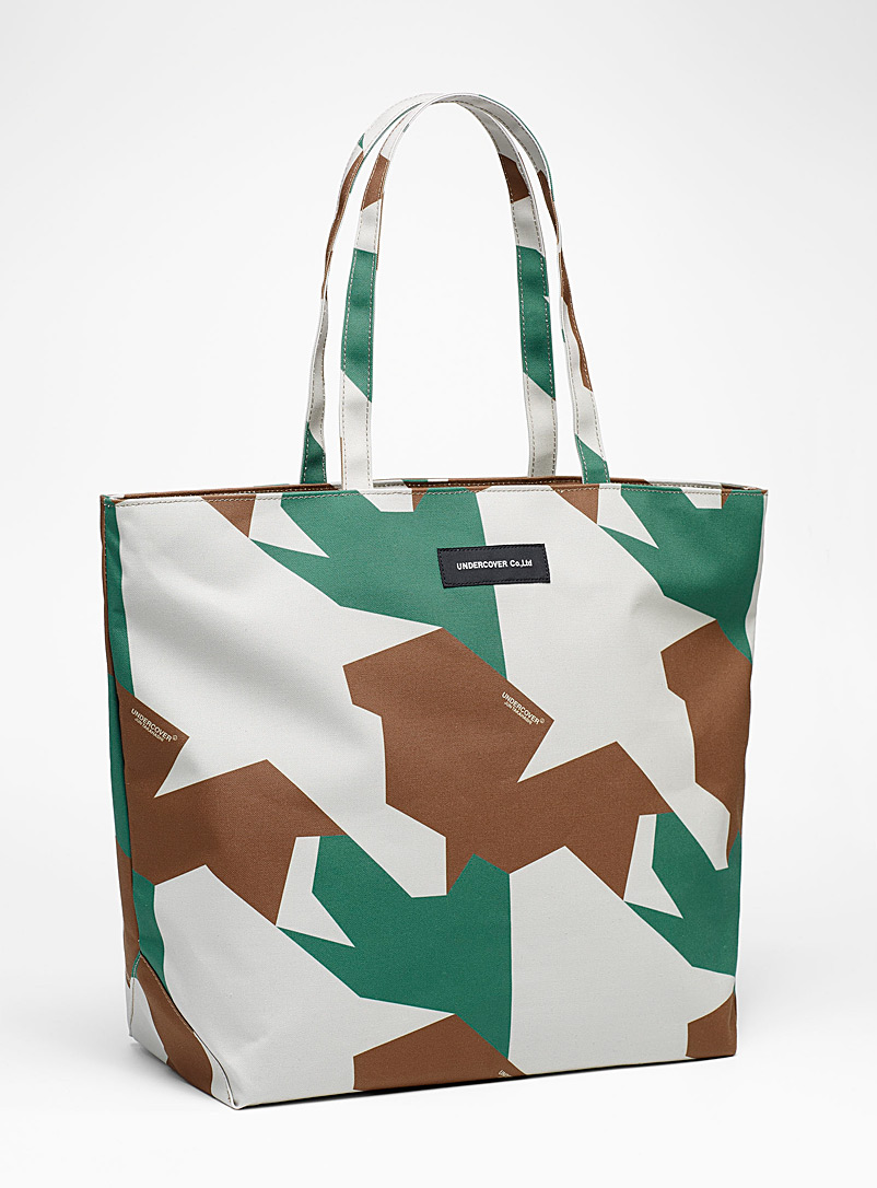 Undercover Cream Beige Large camouflage pattern tote for men